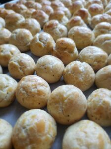 from scratch parmesan puffs
