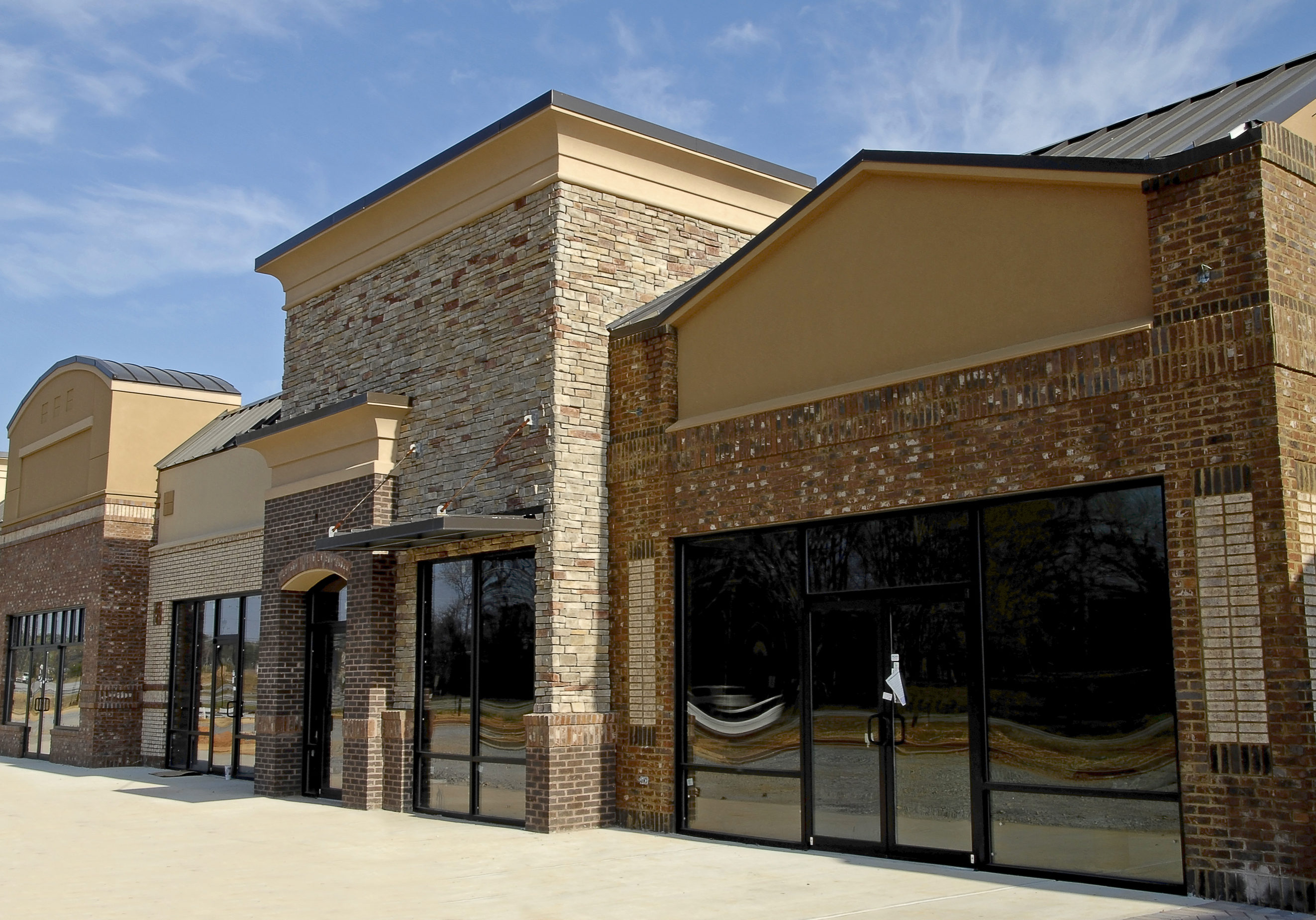 Newly constructed commercial space available for sale or lease