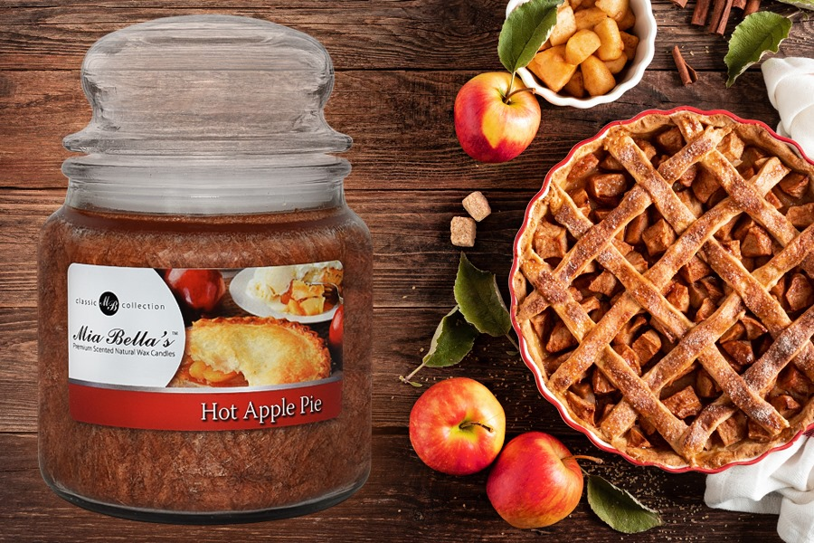 Hot Apple Pie Mia Bella 16oz Candle