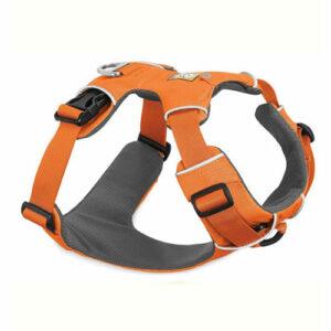 pechera front range ruffwear naranja para perro