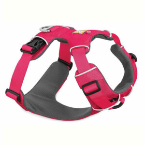 pechera front range ruffwear rosa para perro