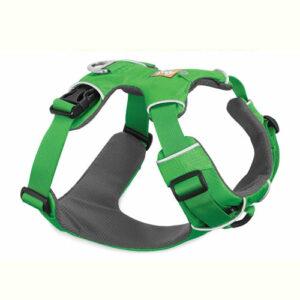 pechera front range ruffwear verde para perro