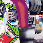 Dragonpieces one   JUMP   2010   80cm x 80cm   mixed media on canvas