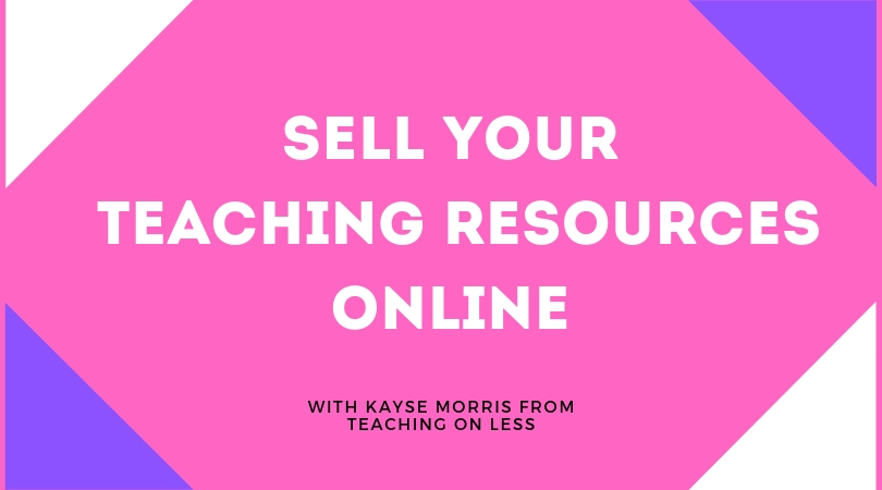 Do you sell your teaching resources online? Click here to learn how to sell your teaching resources online!