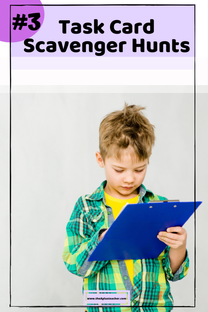 title says # 3 gestures. picture of kid using a clipboard