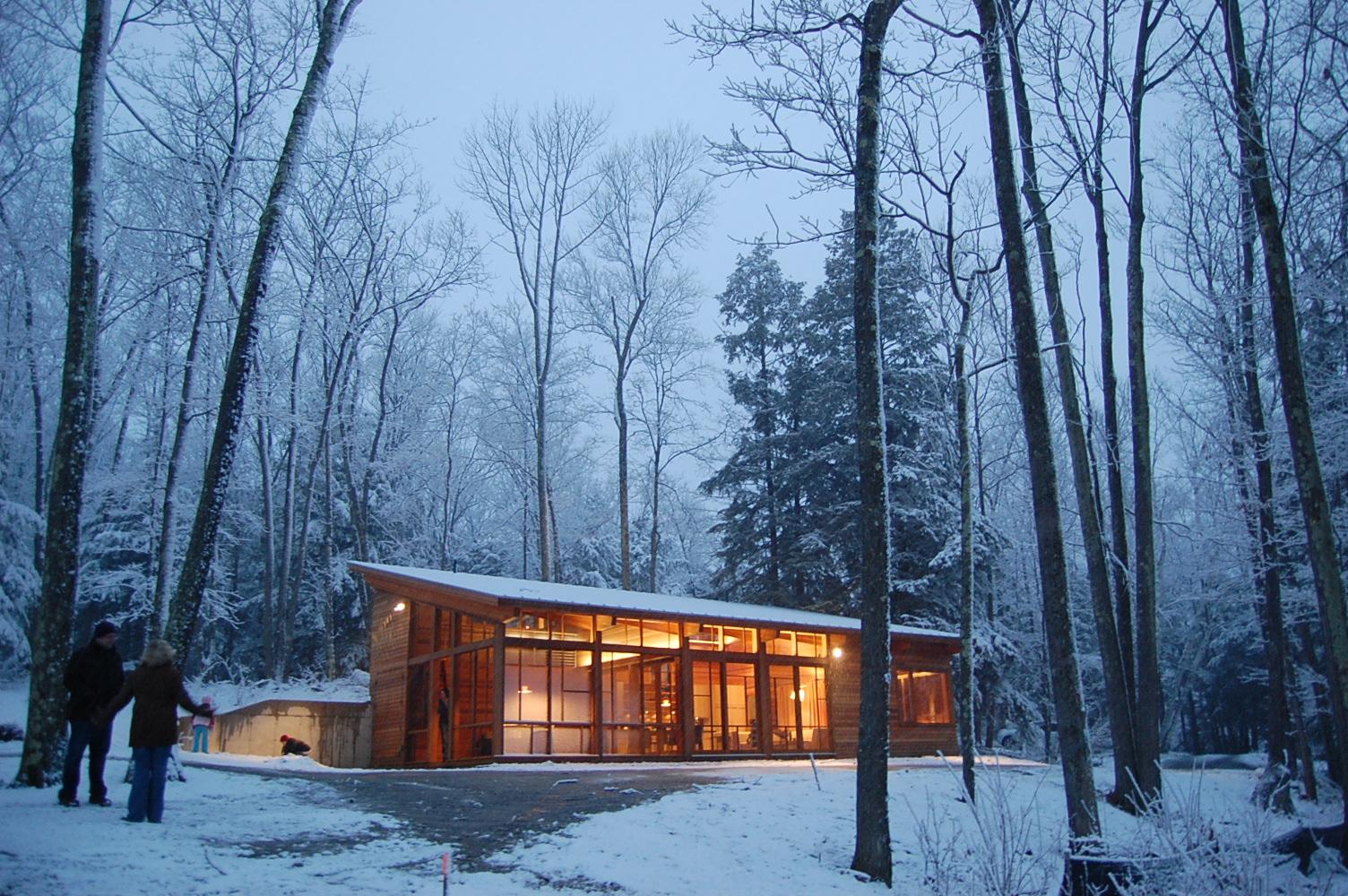 GB modern Cabin 1st snow!