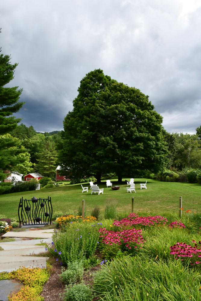 Richmond-Farm-view-from-pool-house-over-scissor-step-garden