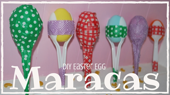 DIY Maracas using Easter Eggs, spoons, tape and macaroni! Easy and the kids will LOVE it! EveryMomDay.com