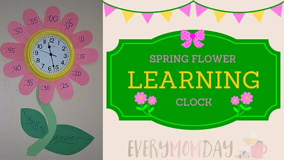 Make a spring-themed flower clock to teach kids about telling time! EveryMomDay.com