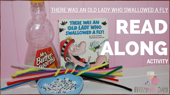 """Cute read-along activity for the """"There was an Old Lady who Swallowed a Fly"""" series of books! EveryMomDay.com"""