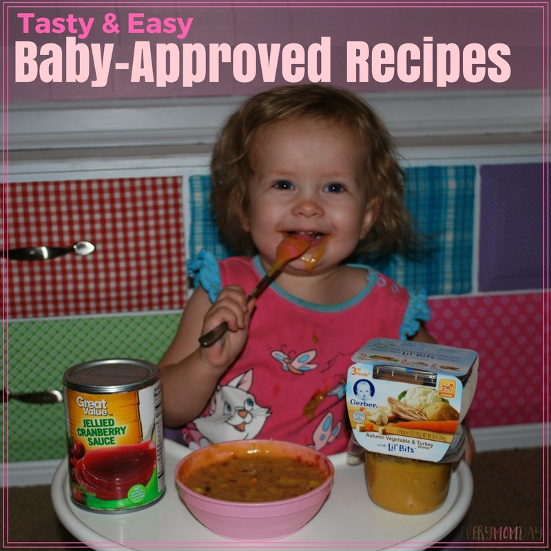 These baby-approved recipes are quick and easy with Gerber Lil'Bits! EveryMomDay.com