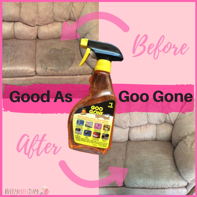 Goo Gone saved my couch - I love this stuff! EveryMomDay.com