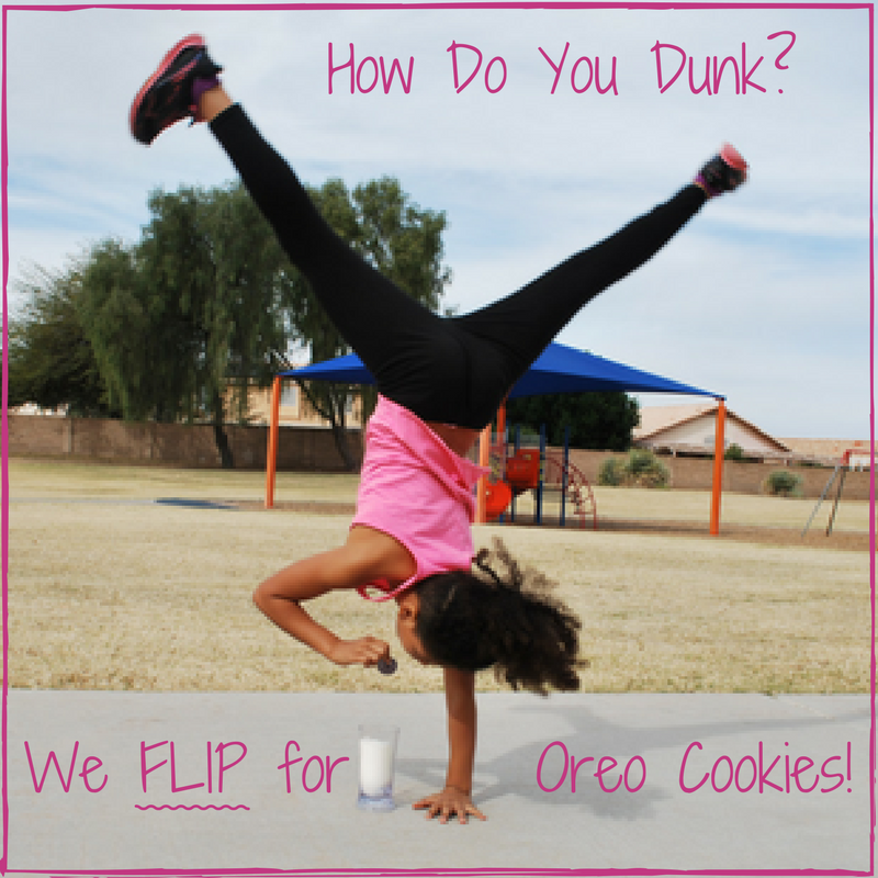 How do YOU dunk? We FLIP for Oreo Cookies! #OreoDunkSweepstakes --- EveryMomDay.com