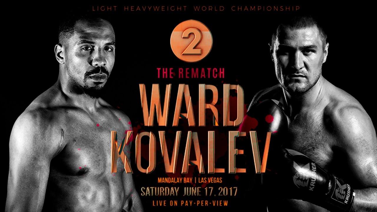 Kovalev vs Ward II fight poster