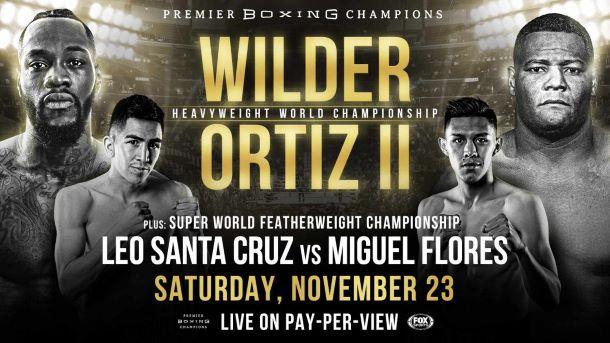 Deontay Wilder -Luis Ortiz II fight poster