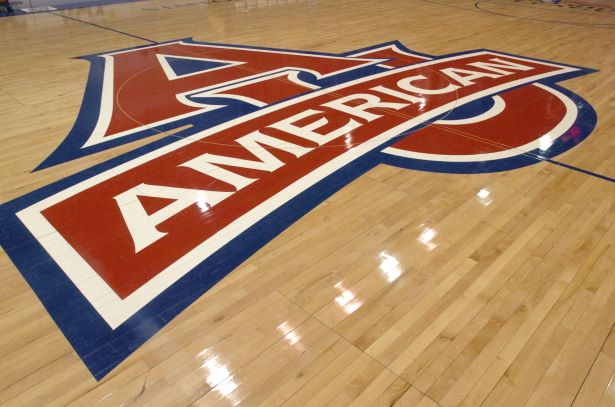 AU Logo on floor at Bender Arena