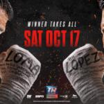 Vasiliy Lomachenko vs Teofimo Lopez Jr. fight poster