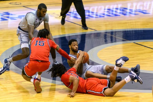 Georgetown's Jahvon Blair goes after a loose ball against St. John's.
