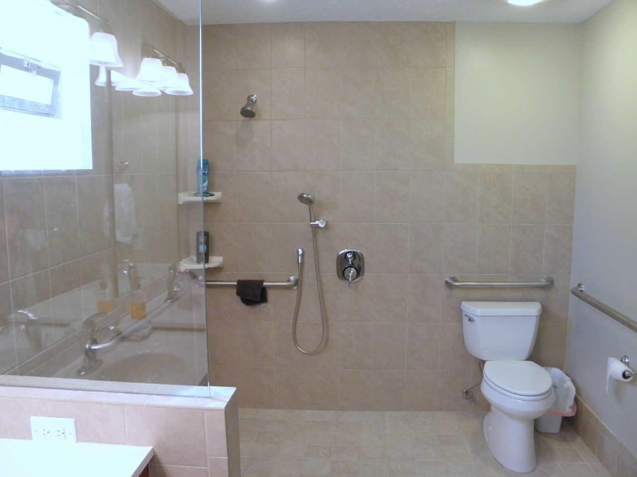 Handicap Showers Make Home Life Easier