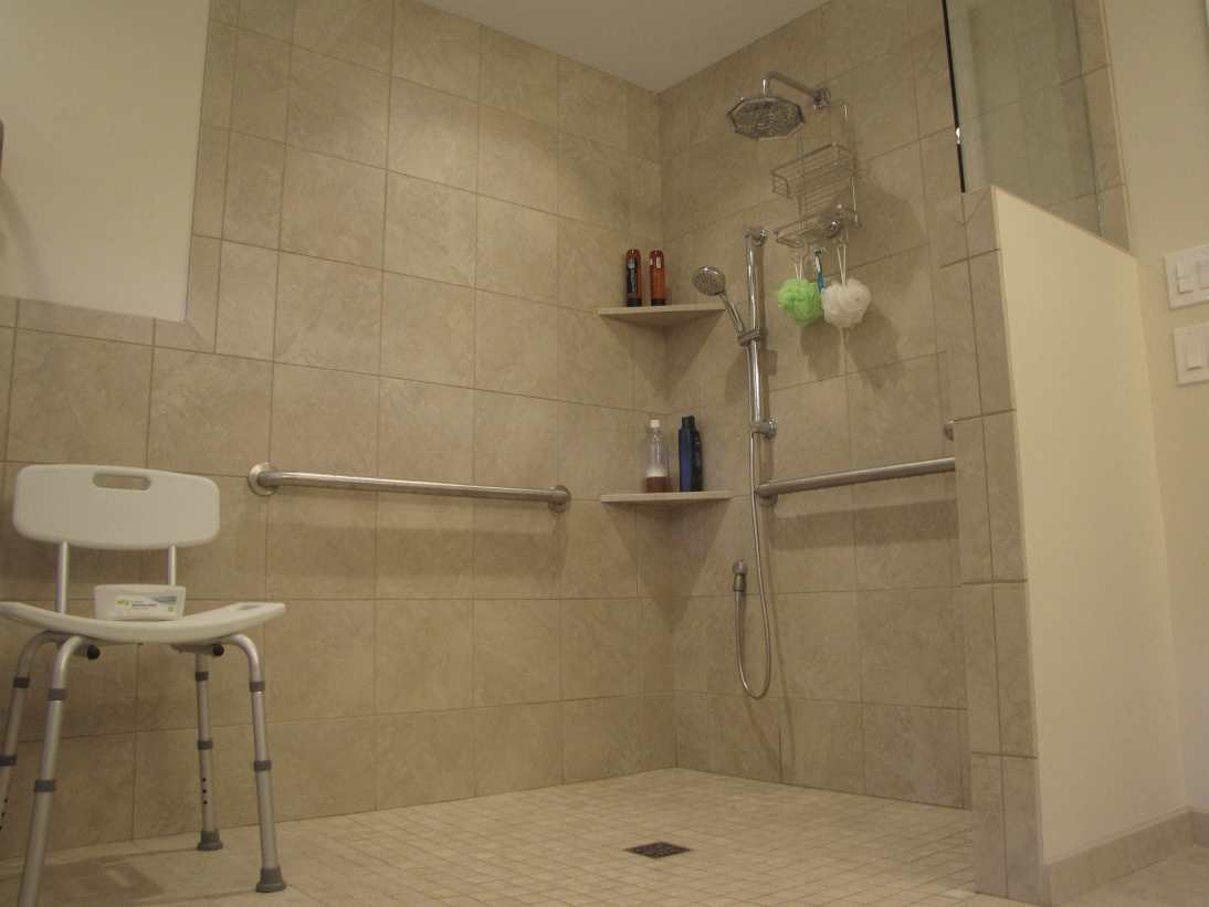 Wheelchair accessible shower