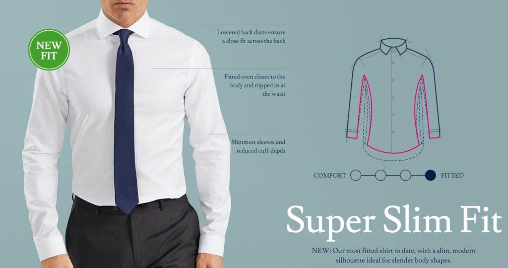 super slim fit shirt description