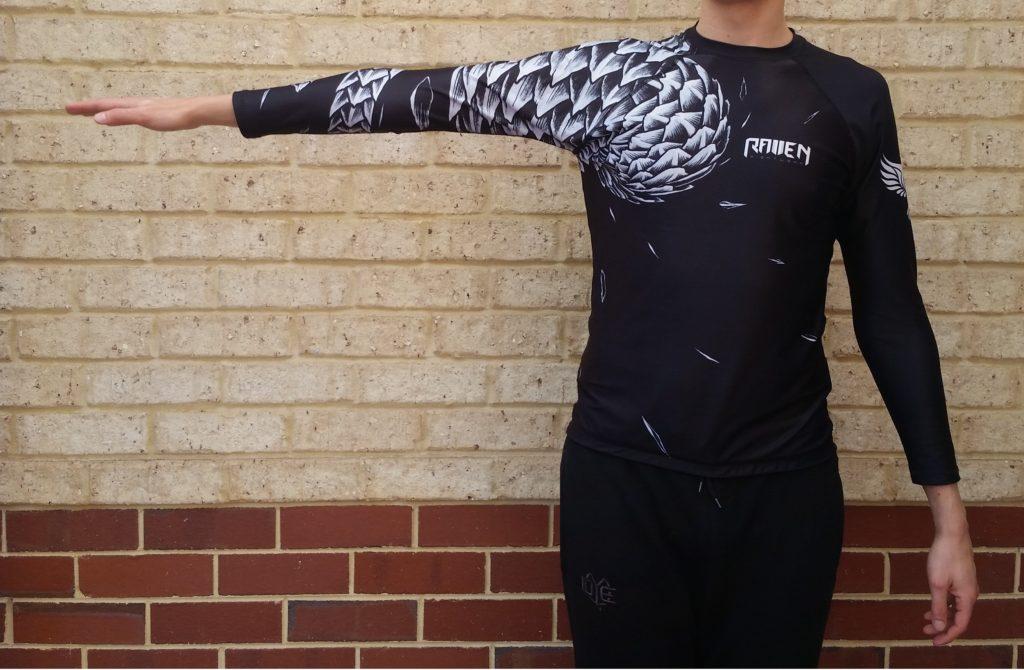raven fightwear rash guard arm