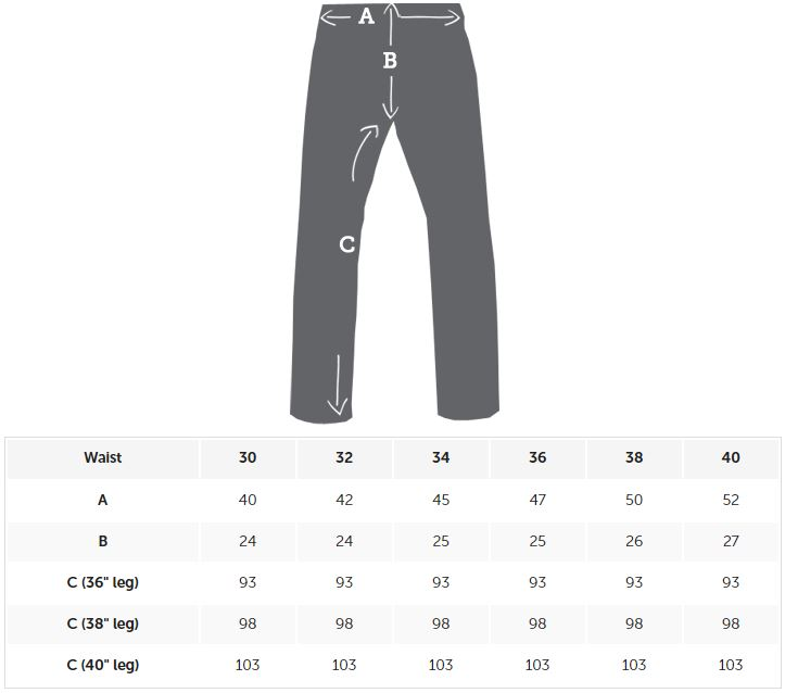 2Tall Pants Sizing