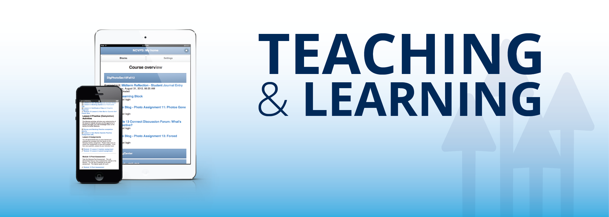teaching and learning banner