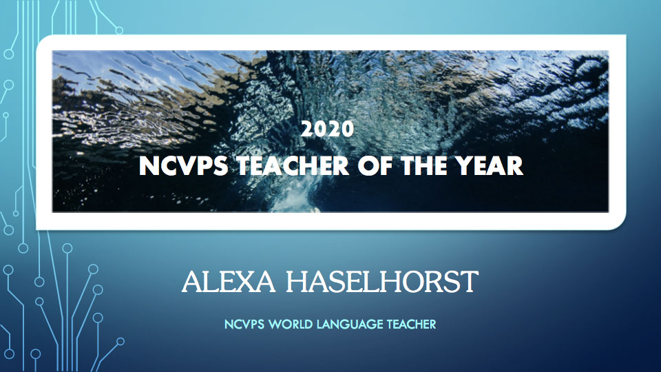 NC Virtual Teacher of the Year Alexa Haselhorst