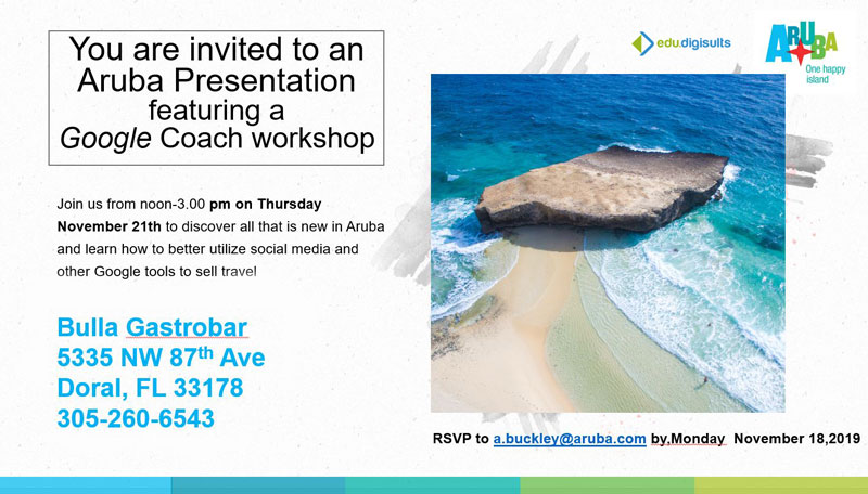 Aruba Tourism Traines Travel Agents