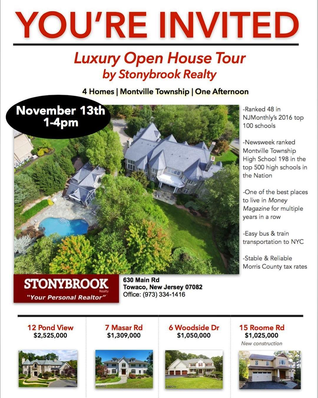 TODAY! Visit us at 7 Masar Rd luxury openhouse montville
