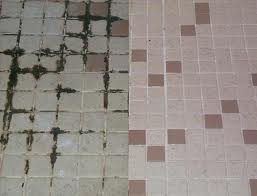 Grout before and after