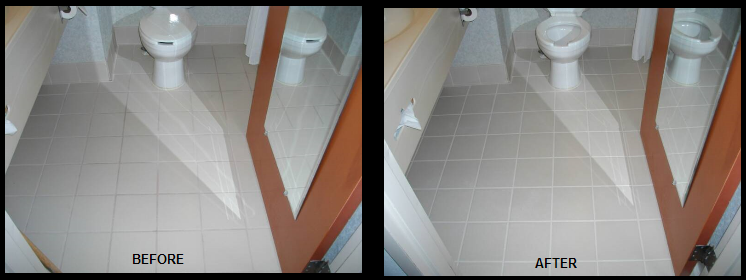 Commercial Bathroom Tile Grout Repair and Replace