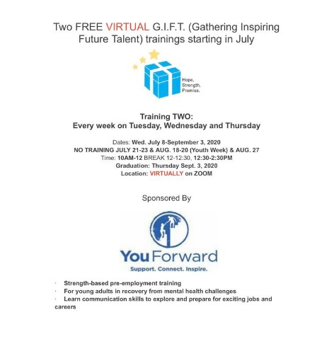 Two FREE VIRTUAL G.I.F.T. (Gathering Inspiring Future Talent) training 2