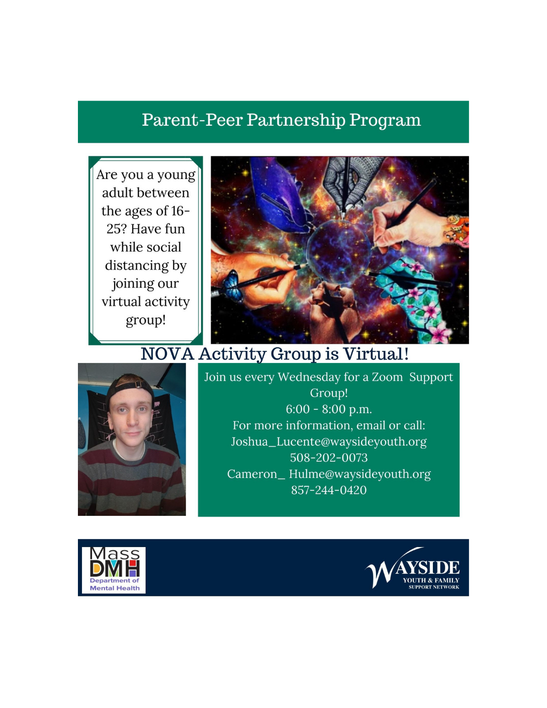 NOVA Activity Group: Wayside Youth & Family Support Network (Virtual Young Adult Support Group 16-25) Framingham