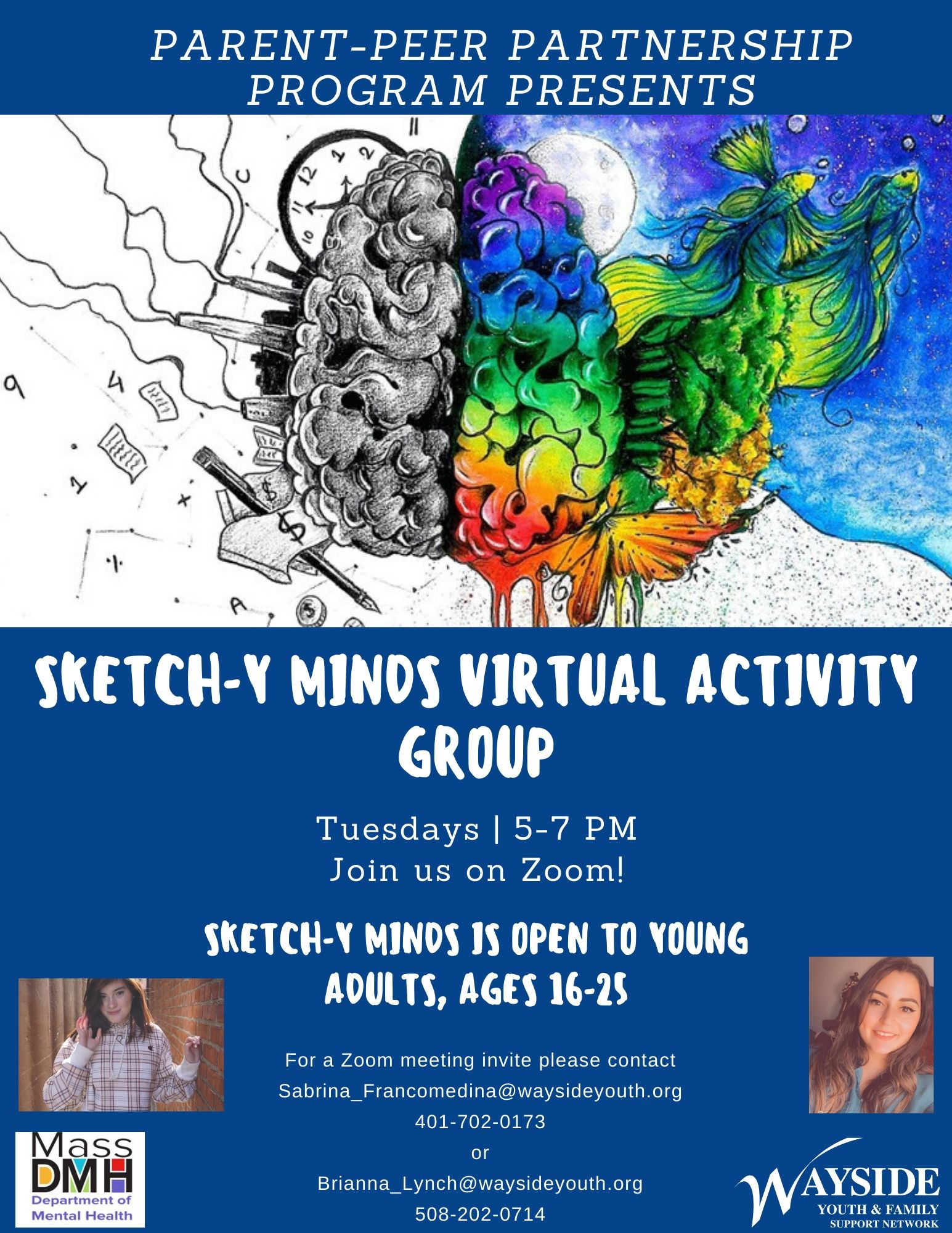 Sketch-y Minds: Wayside Youth & Family Support Network (Virtual Young Adult Support Group, Ages 16-25)