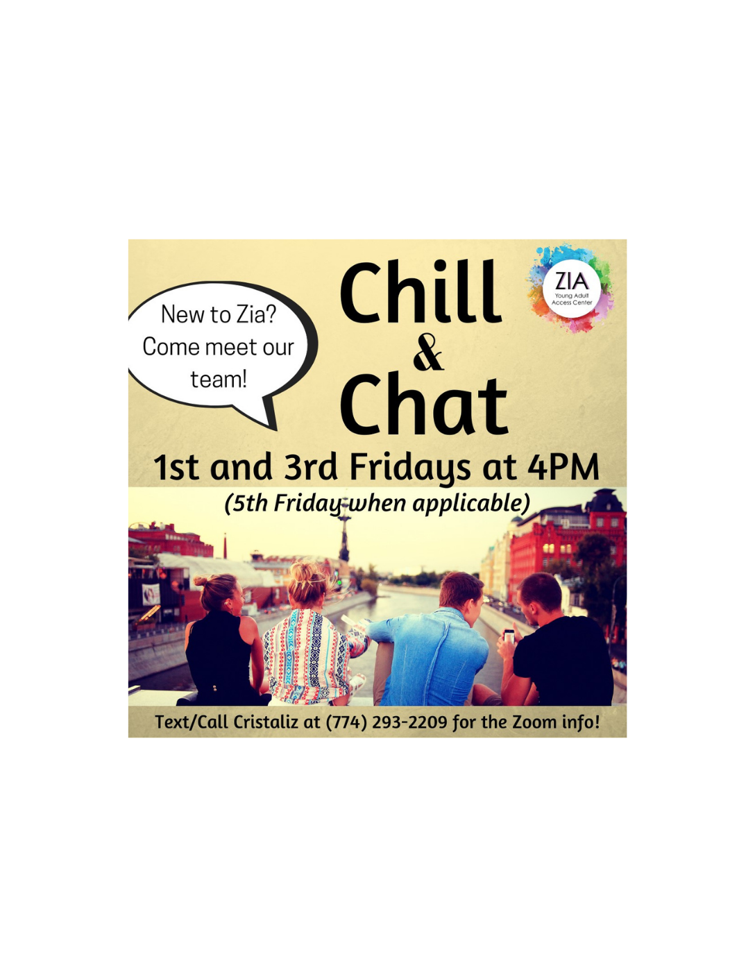 Chill & Chat - Hosted by Zia Young Adult Access Center