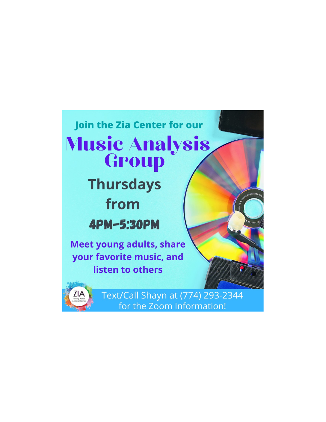 Music Analysis Group - Hosted by Zia Young Adult Access Center