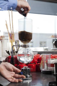 Vacuum Syphon Brewer at Chazzano Cafe, not Cafe Diem!