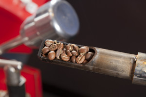 We sniff the beans frequently during the roasting process. Seventy to eighty percent of the taste of a food is the aroma!