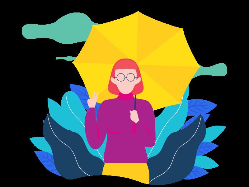X Tech Knowledge - Girl holding umbrella.