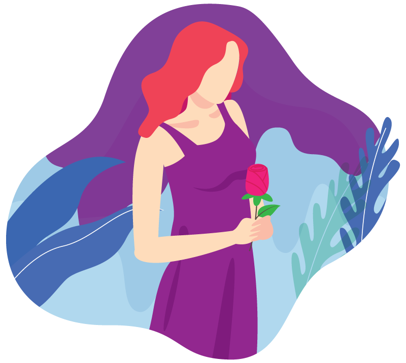 X Tech Knowledge - Beauty Girl holding a rose.