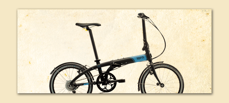 tern bike black with blue fort myers customized