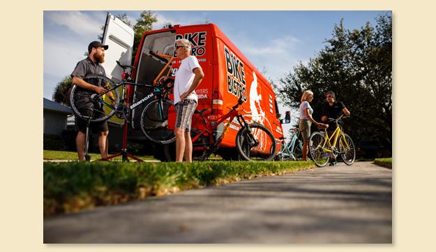 Bike Bistro van at an event