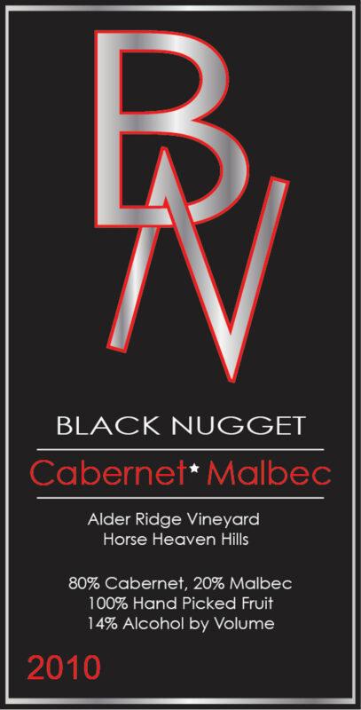 BlackNugget wine label