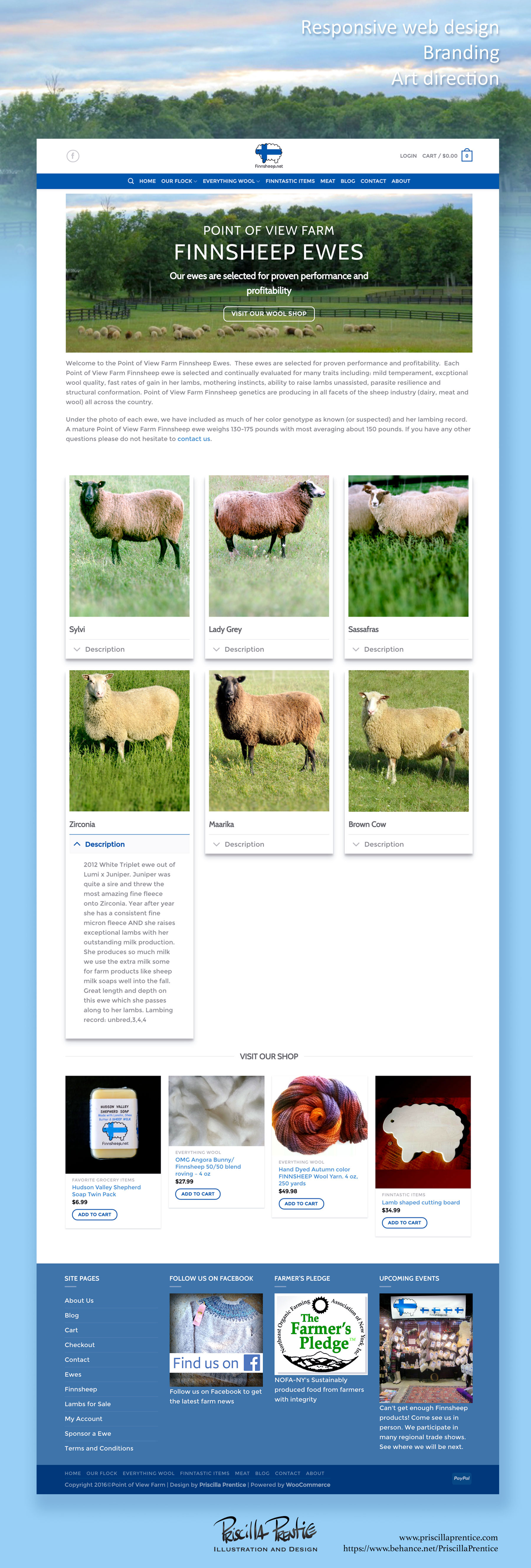 finnsheep site ewes page screenshot