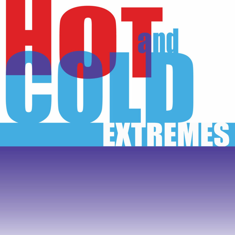 hot and cold art show sign RGA