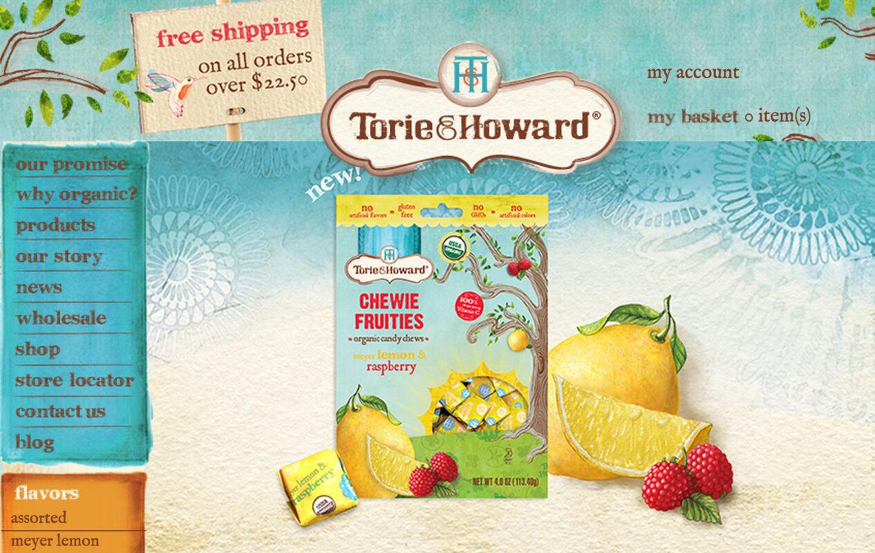 lemon and raspberry web site screen shot