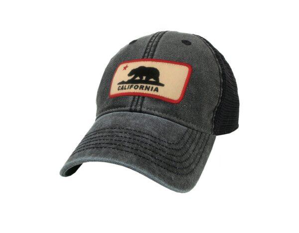 Sand 'n Surf Santa Monica California Old Fashion tracker with Black Bear Patch Hat