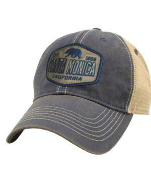 Sand 'n Surf Santa Monica California Old Fashion tracker with Blue Bear Patch Hat